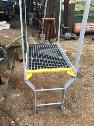 Dolphin Access Ladder With GRP Grating