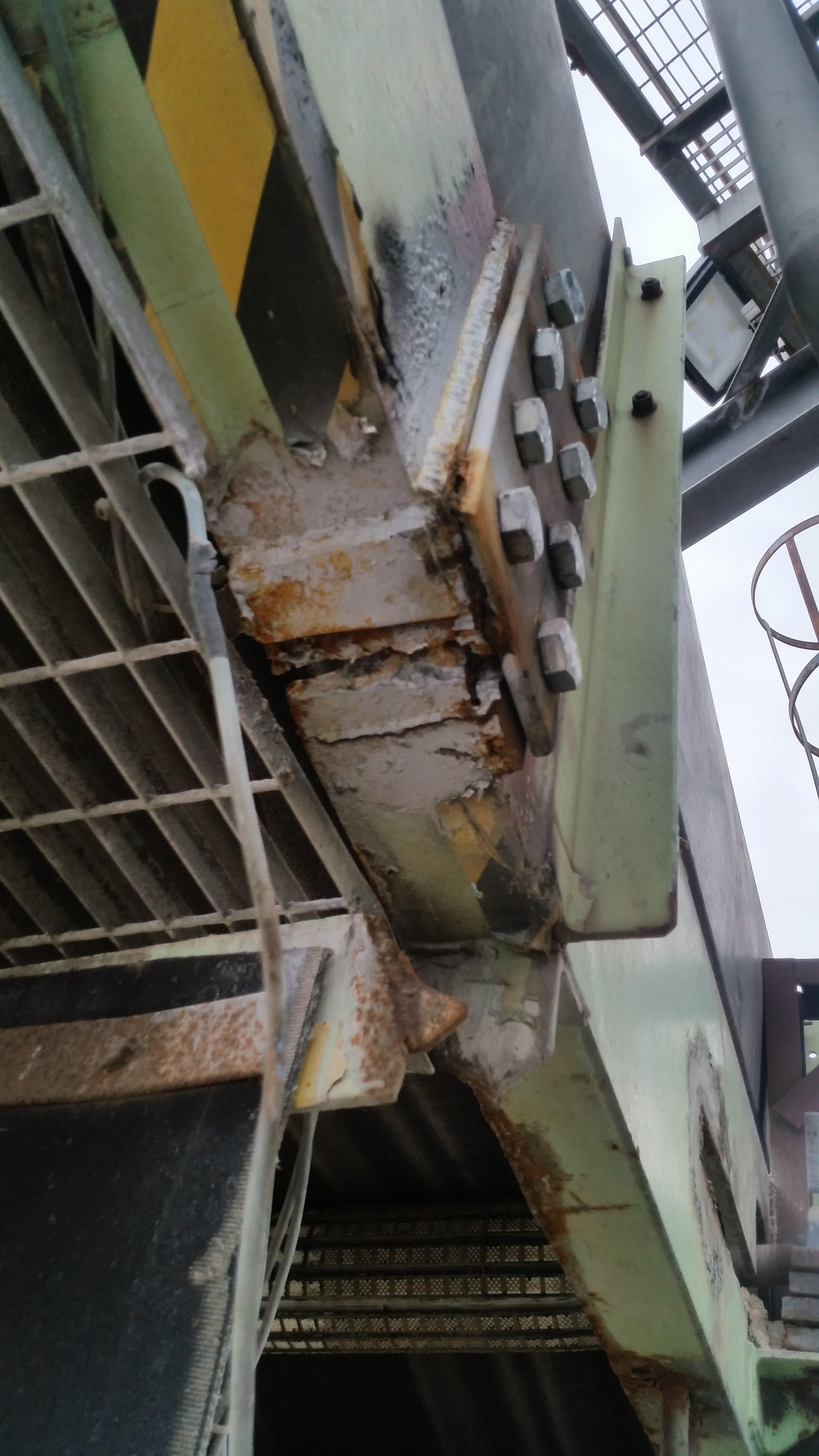 Cracked Conveyor Repair