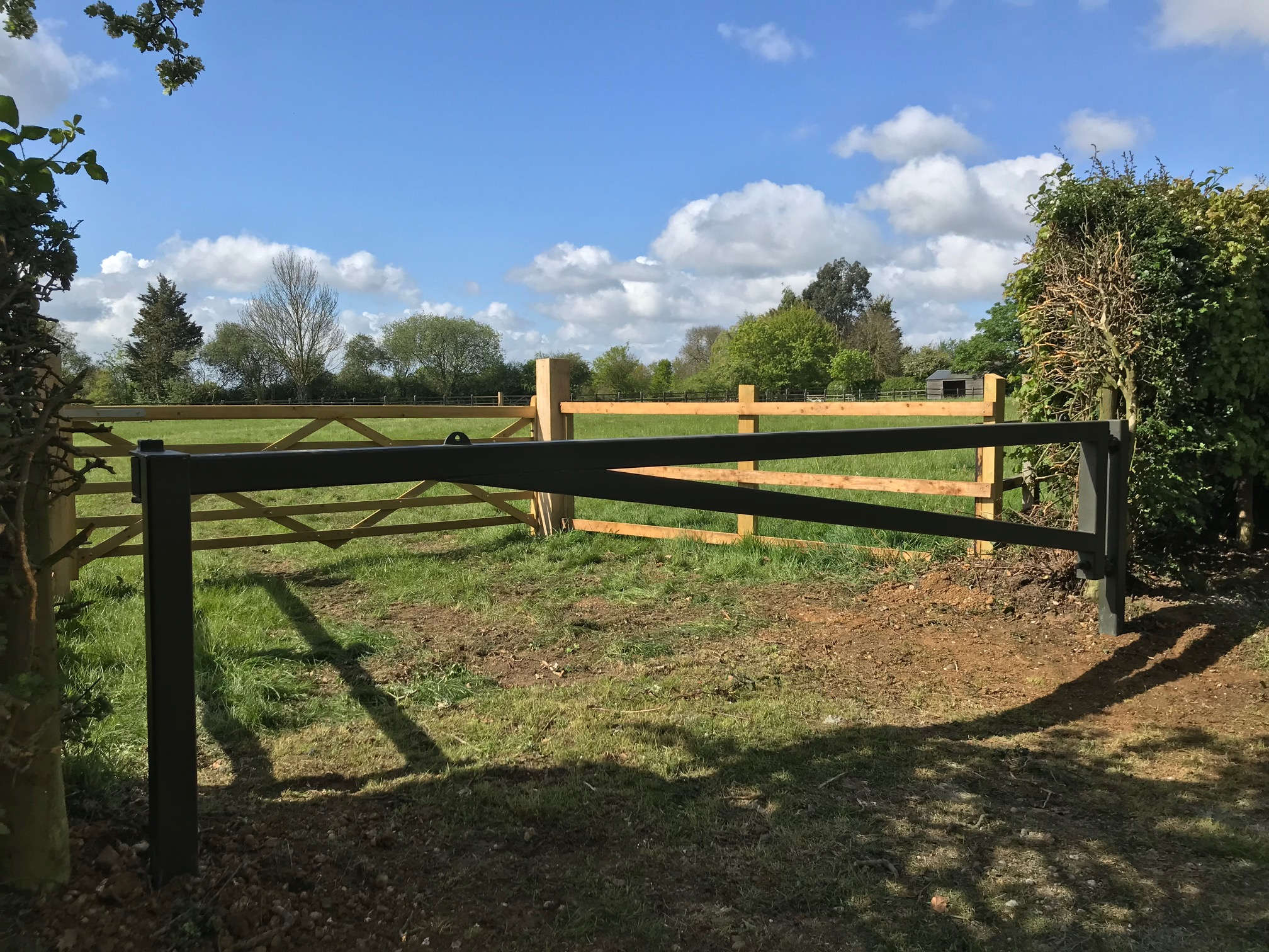 Steel Farm Gate Fabricated & Installed In Essex