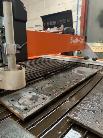 Exhaust Flange, 12mm Steel, CNC Plasma Cutting, Swift-Cut, Hypertherm