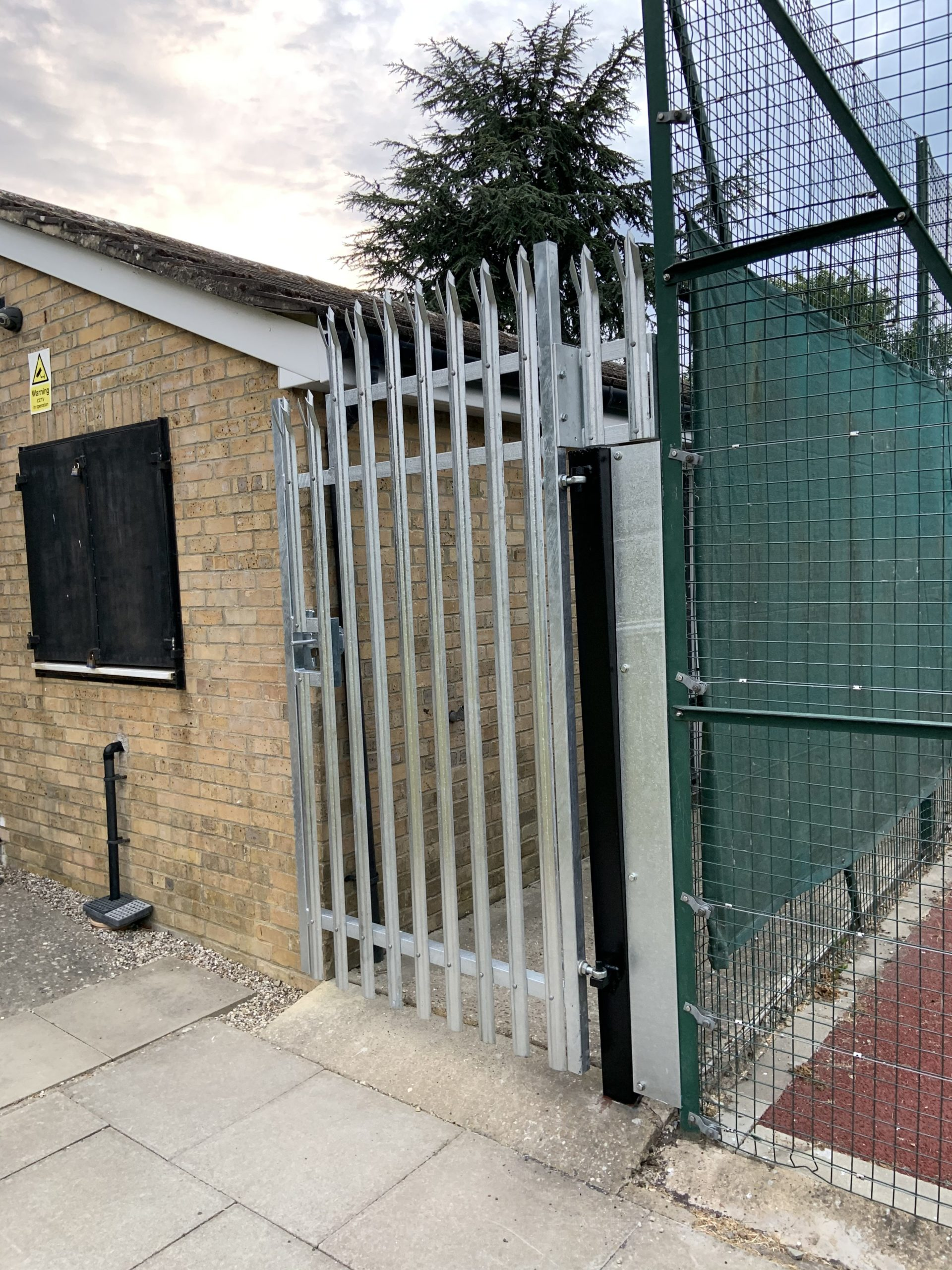 Fabricated Palisade Security Gate